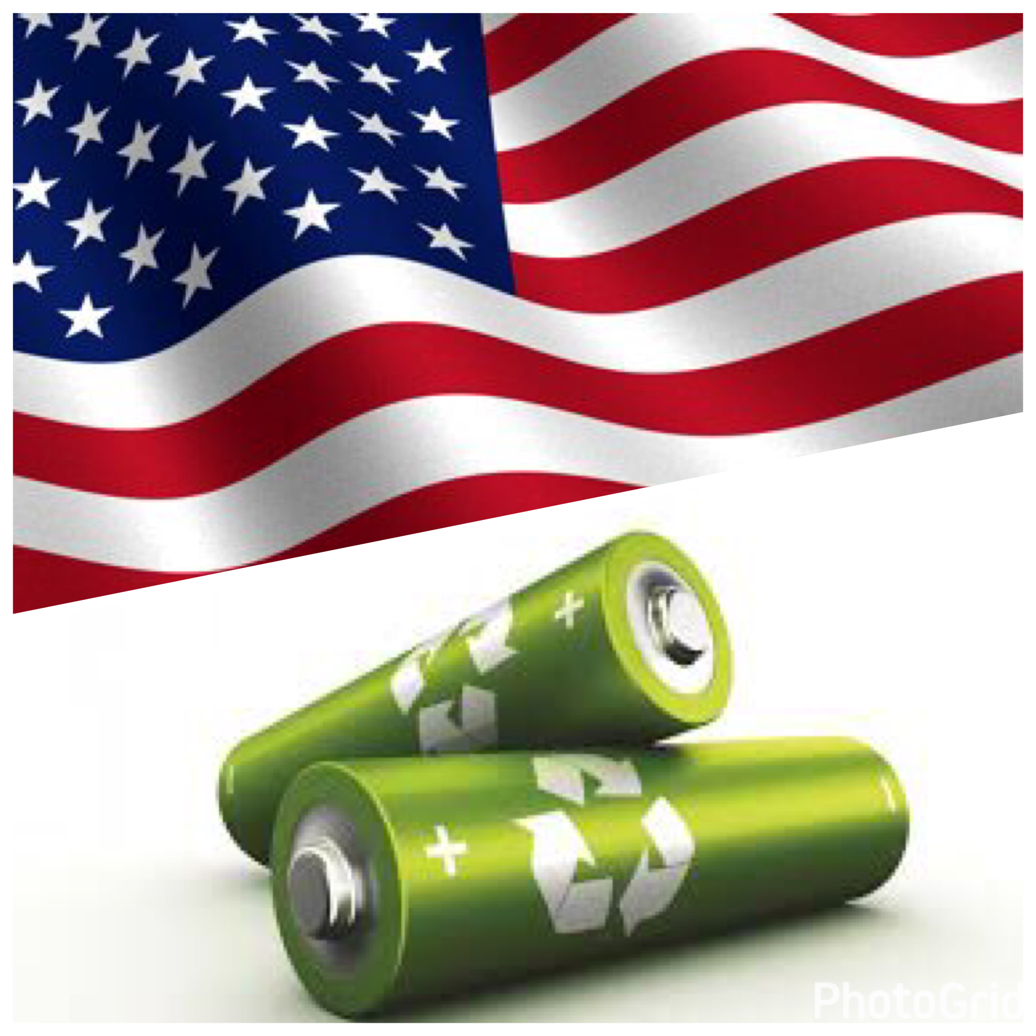 US Flag-Batteries